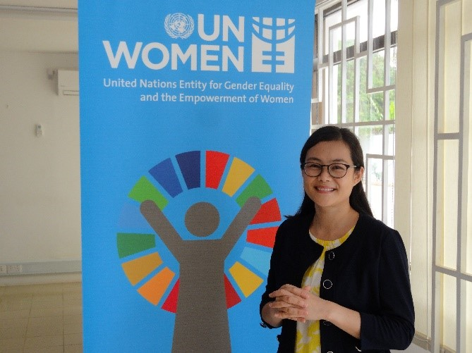 UN Women タンザニア事務所にて。 Photo: UN Women/Tsitsi Matope
