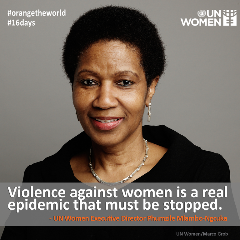 Statement by UN Women Executive Director Phumzile Mlambo-Ngcuka for International Day for the Elimination of Violence against Women