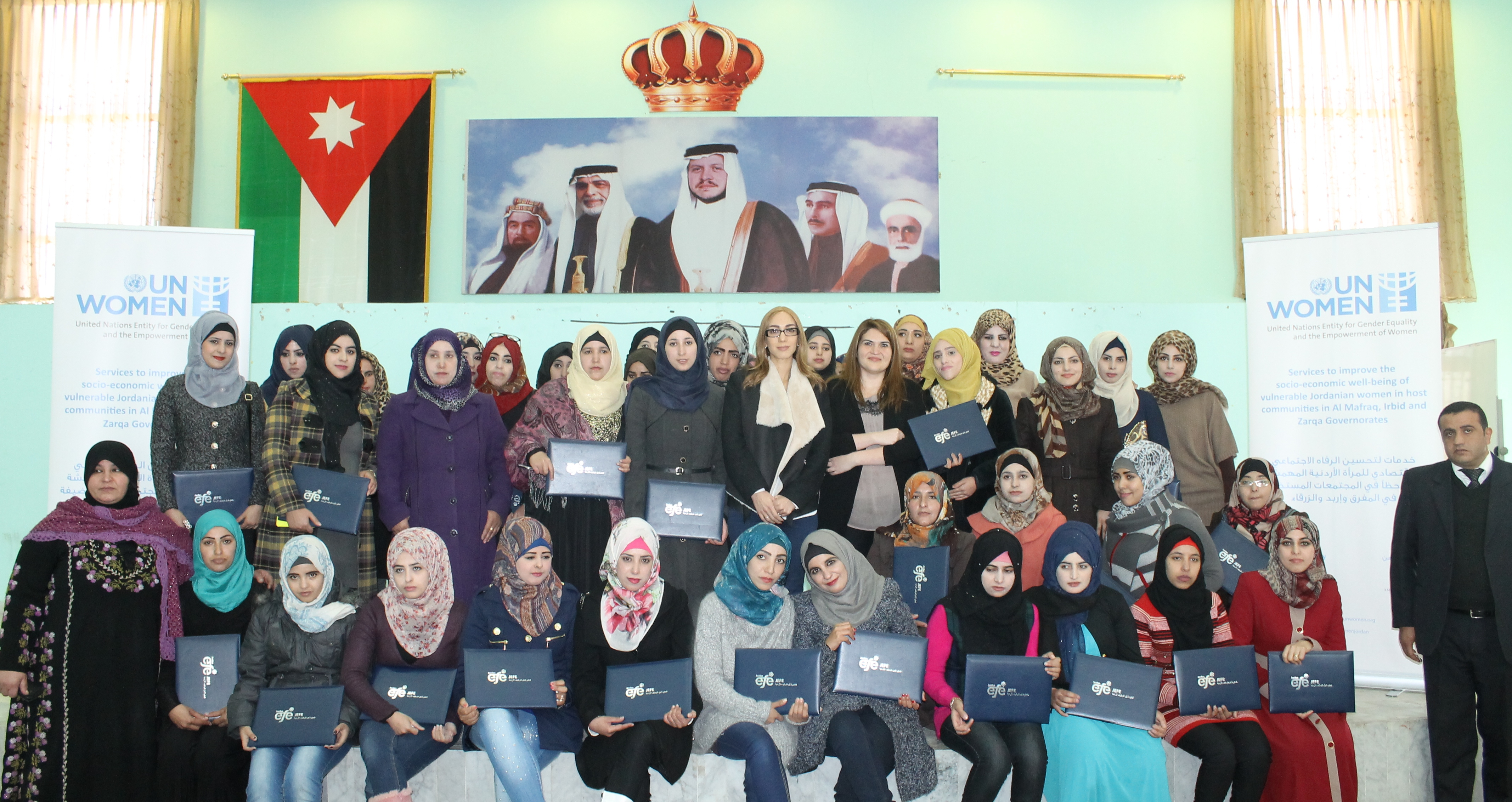 UN Women awards participants of anti-gender based violence training in preparation of job placement