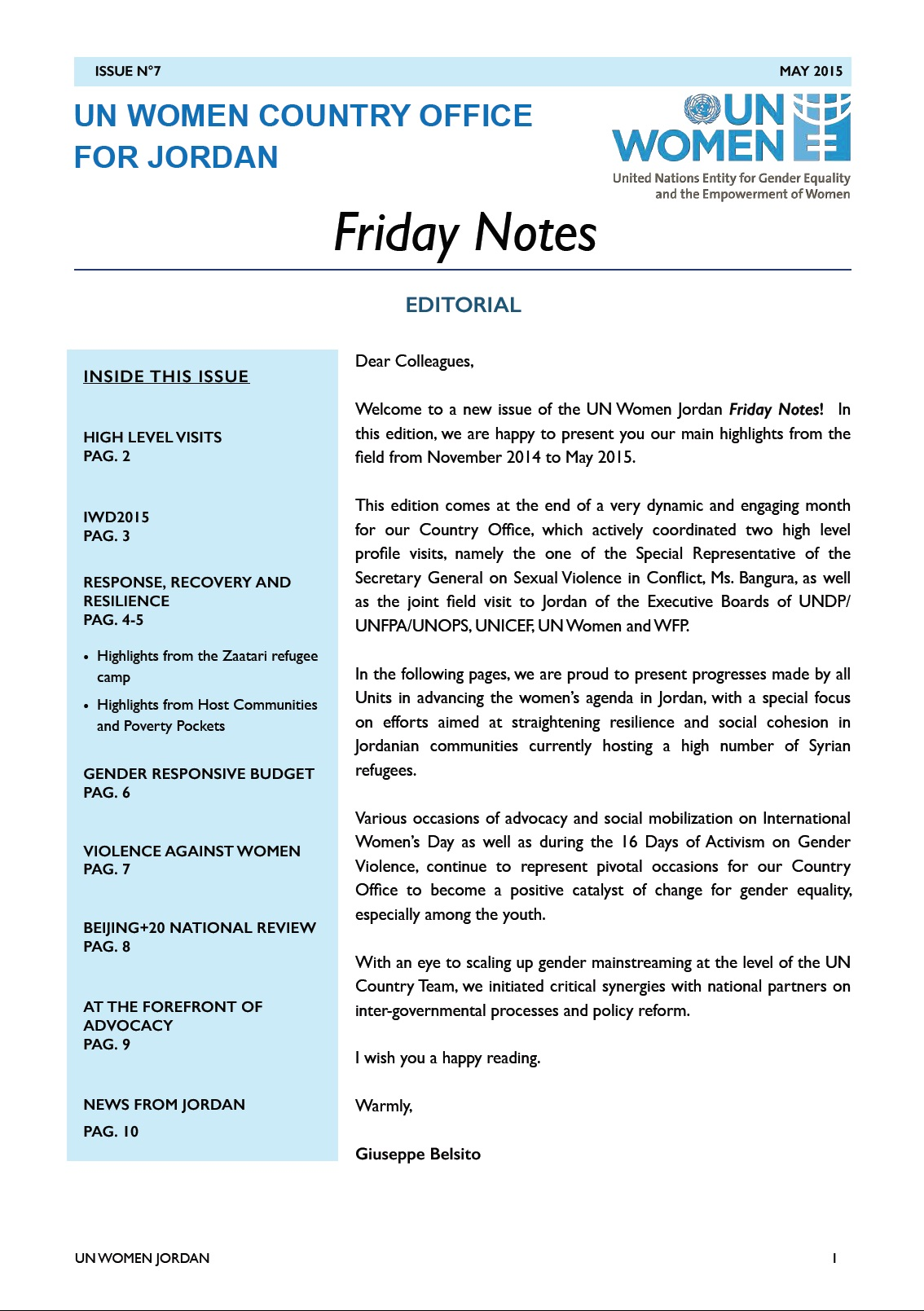 Friday Notes, issue n.7