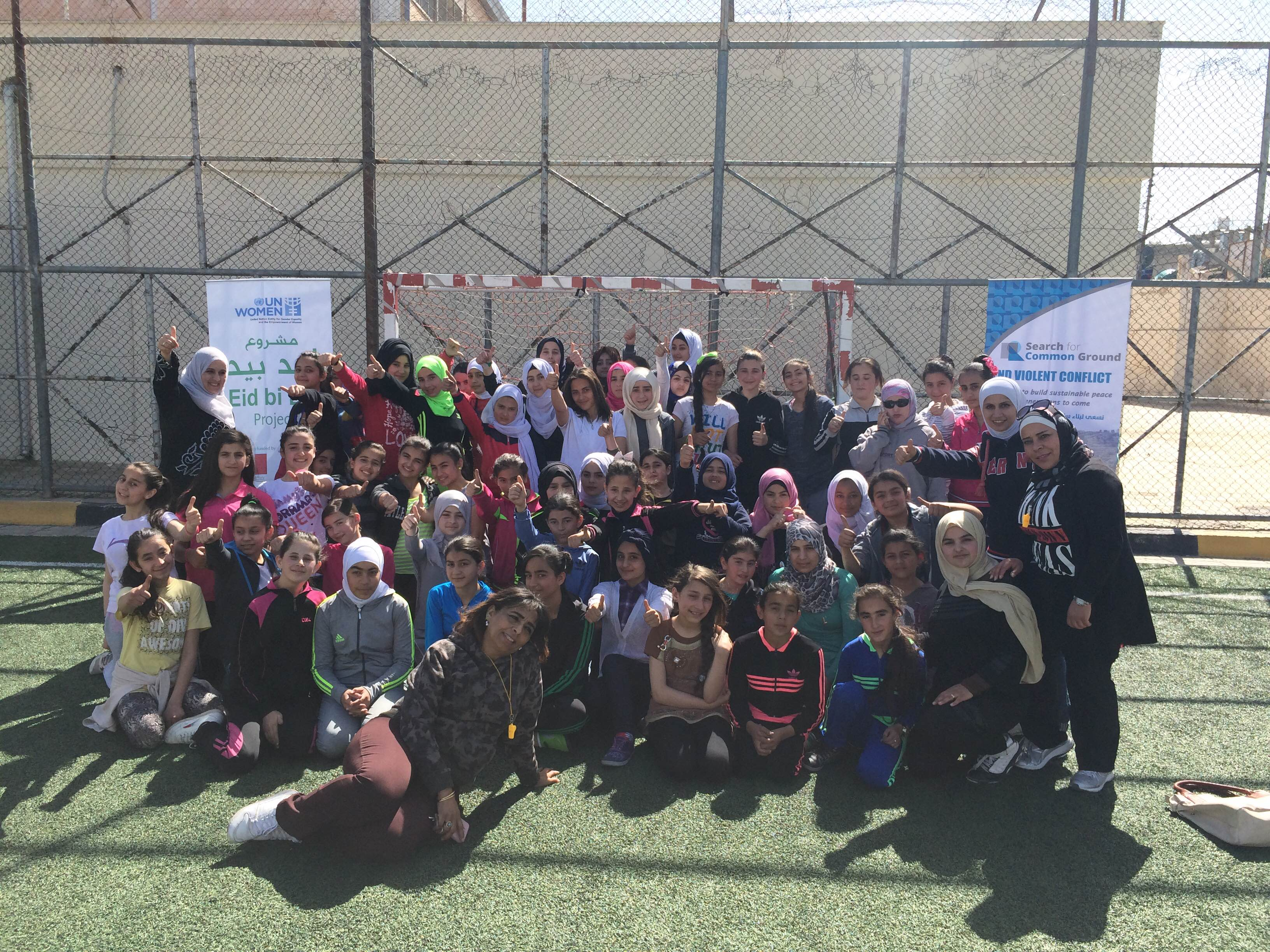 Football camp boosts social cohesion between refugees and host communities in Mafraq, Irbid and Ramtha