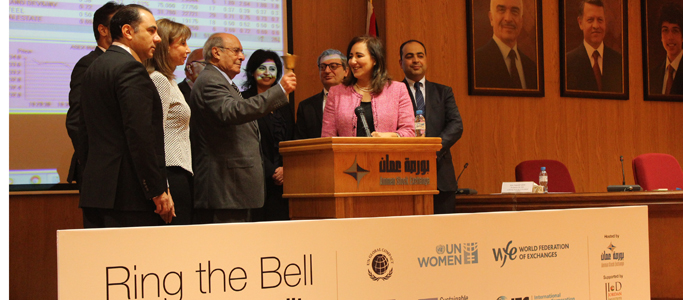 The Amman stock exchange rings the bell for gender equality