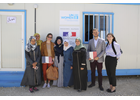 The French Delegation visit UN Women 'Women and Girls' Oasis' in Azraq refugee camp