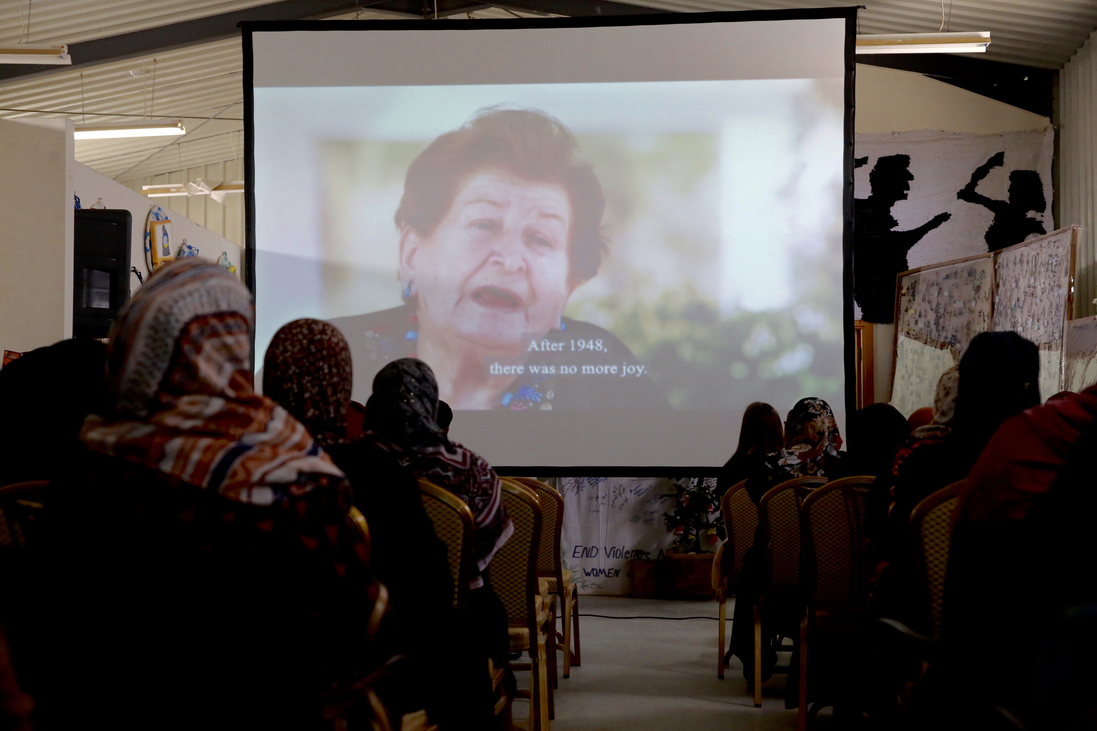 UN Women transformed the women's Oases of Za'atari and Azraq into a movie theatre for International Women's Day 2018