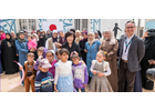 The First Lady of Japan, Her Excellency Mrs. Akie Abe, received a warm greeting from the Syrian women and girls working within the UN Women 'Oasis 2'