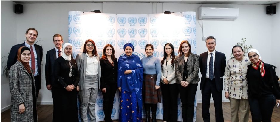 UN Deputy Secretary-General meets women leaders in Jordan to discuss opportunities to promote gender equality towards 2030