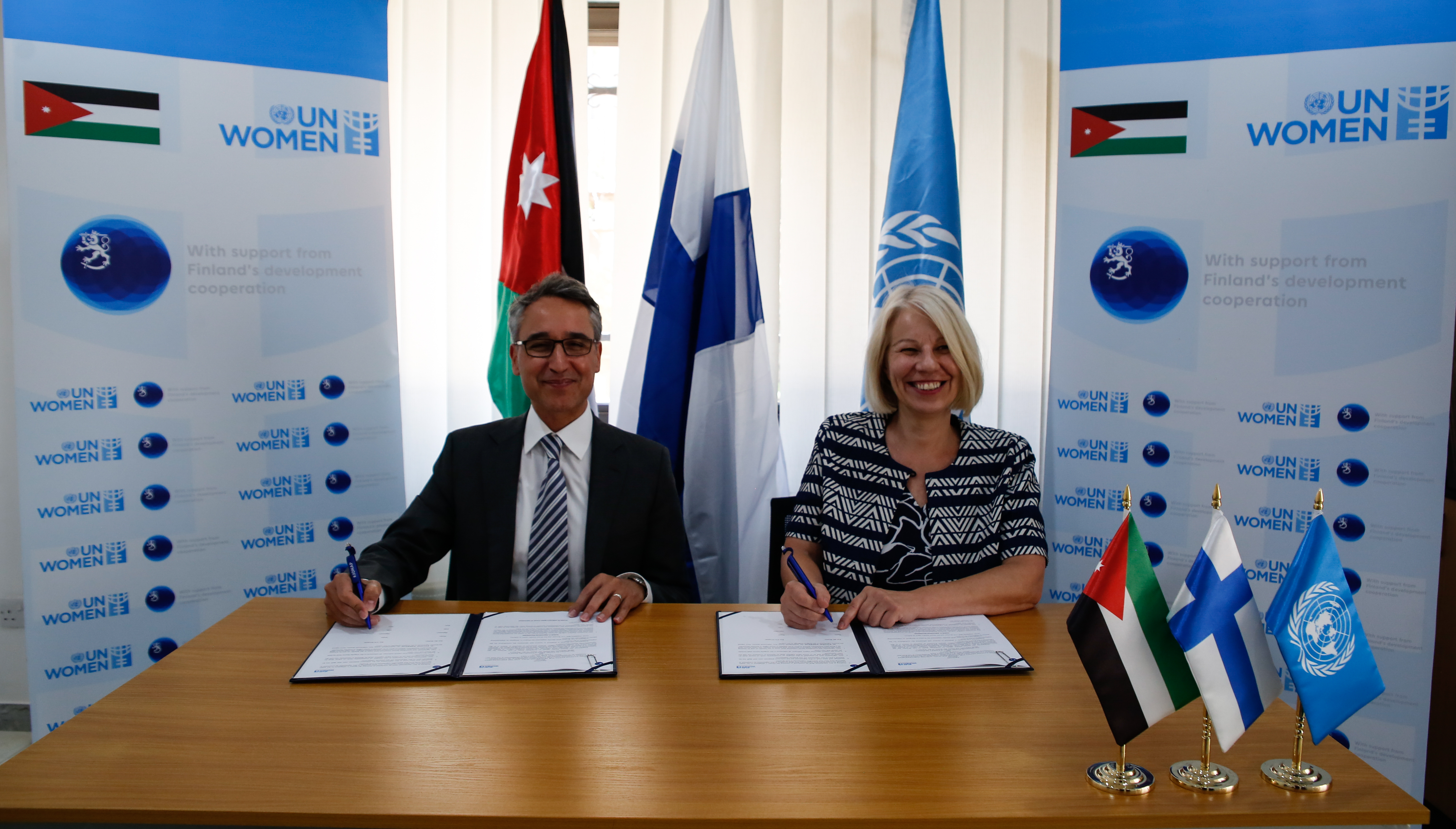 Government of Finland partners with UN Women to promote women's economic empowerment and resilience in Jordan