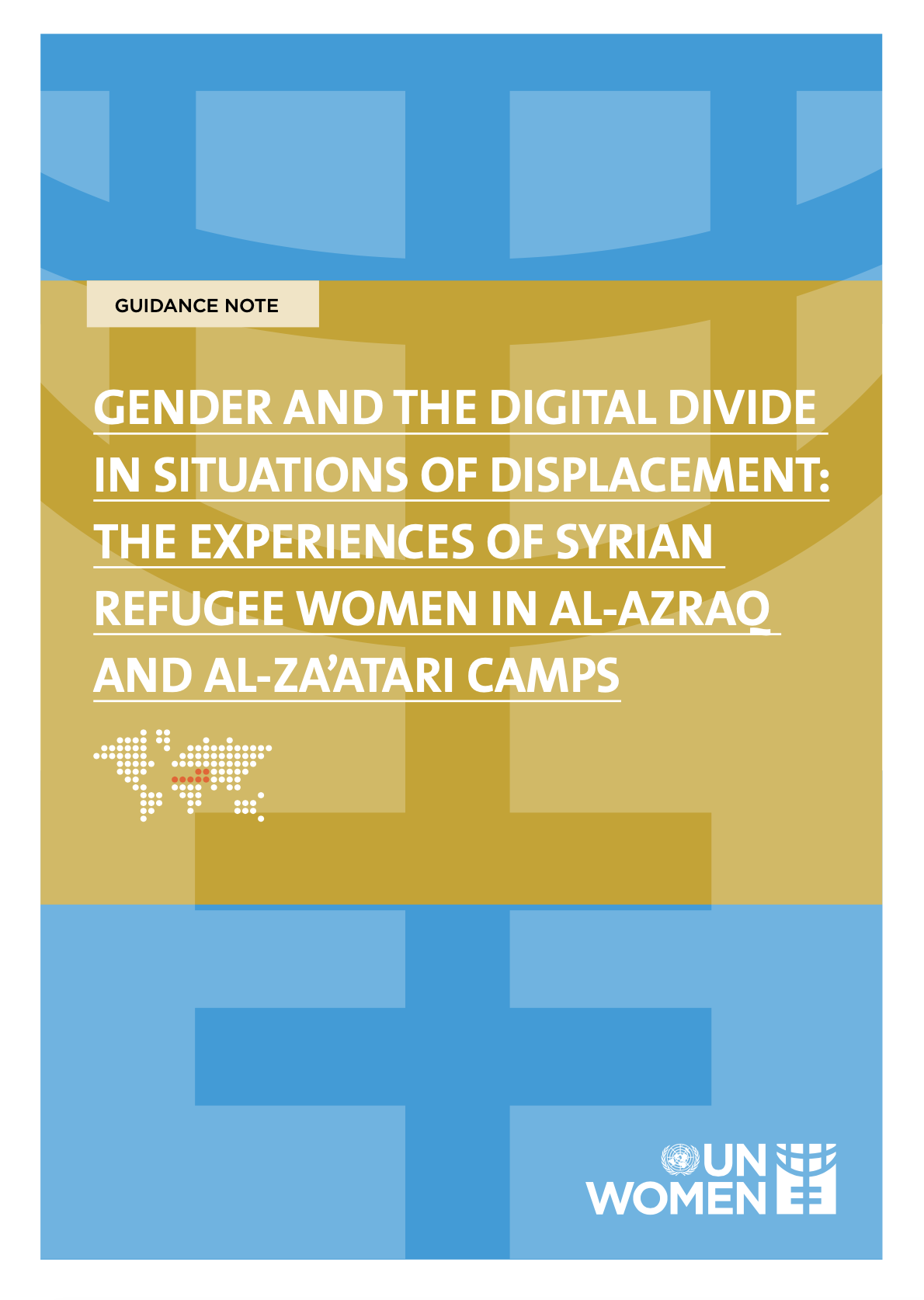 This report identifies, discusses, and analyses the range of drivers at the root of the digital gender divide among refugee women in Al-Azraq and Al-Za'atari refugee camps.