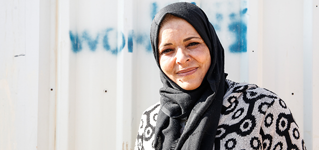 Ibtsam Sayeed Ahmed, 40, is using her story to empower other women, youth and people with disabilities to stand up for their rights, Jordan. Photo: UN Women/ Lauren Rooney