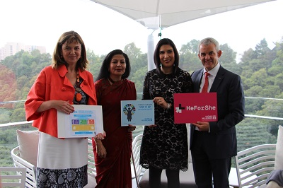 Lakshmi Puri, Deputy Executive Director of UN Women, realizes her first official visit to Mexico