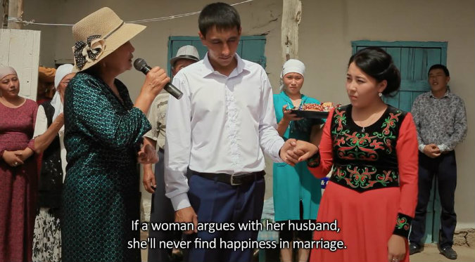 """Grab and Run"" the film which portrays the subject of forced marriages in Kyrgyzstan will be screened in Chisinau"