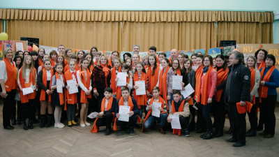92 school students in Drochia participated in Essay, Photo and Drawing contests and learned about non-violent communication