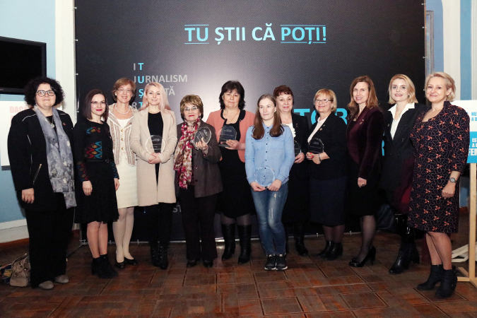 Women featured in the 'You know you can' campaign and female Ambassadors in Moldova