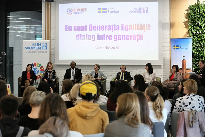 """Over 100 people joined the campaign """"I am Generation Equality: realizing women's rights"""", during a dialogue session between the young generation and human rights defenders"""