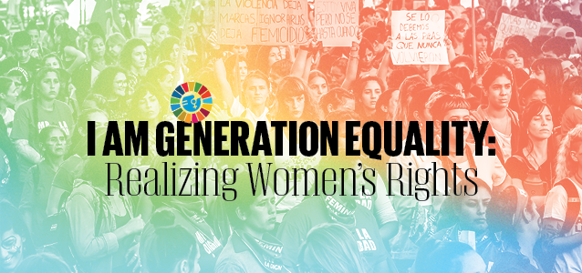 Be a part of Generation Equality and let us continue to write history together!