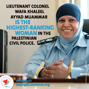 Leading the police service, ending violence against women her motto