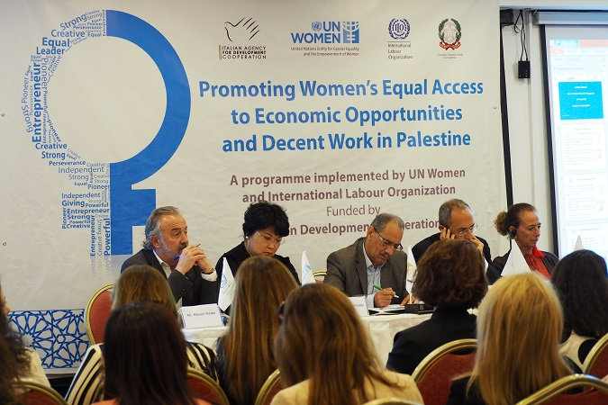 Press Release: The Government of Italy, UN Women, and ILO launch a half-a-million Euro initiative  to provide equal and decent work opportunities for women in the West Bank and Gaza