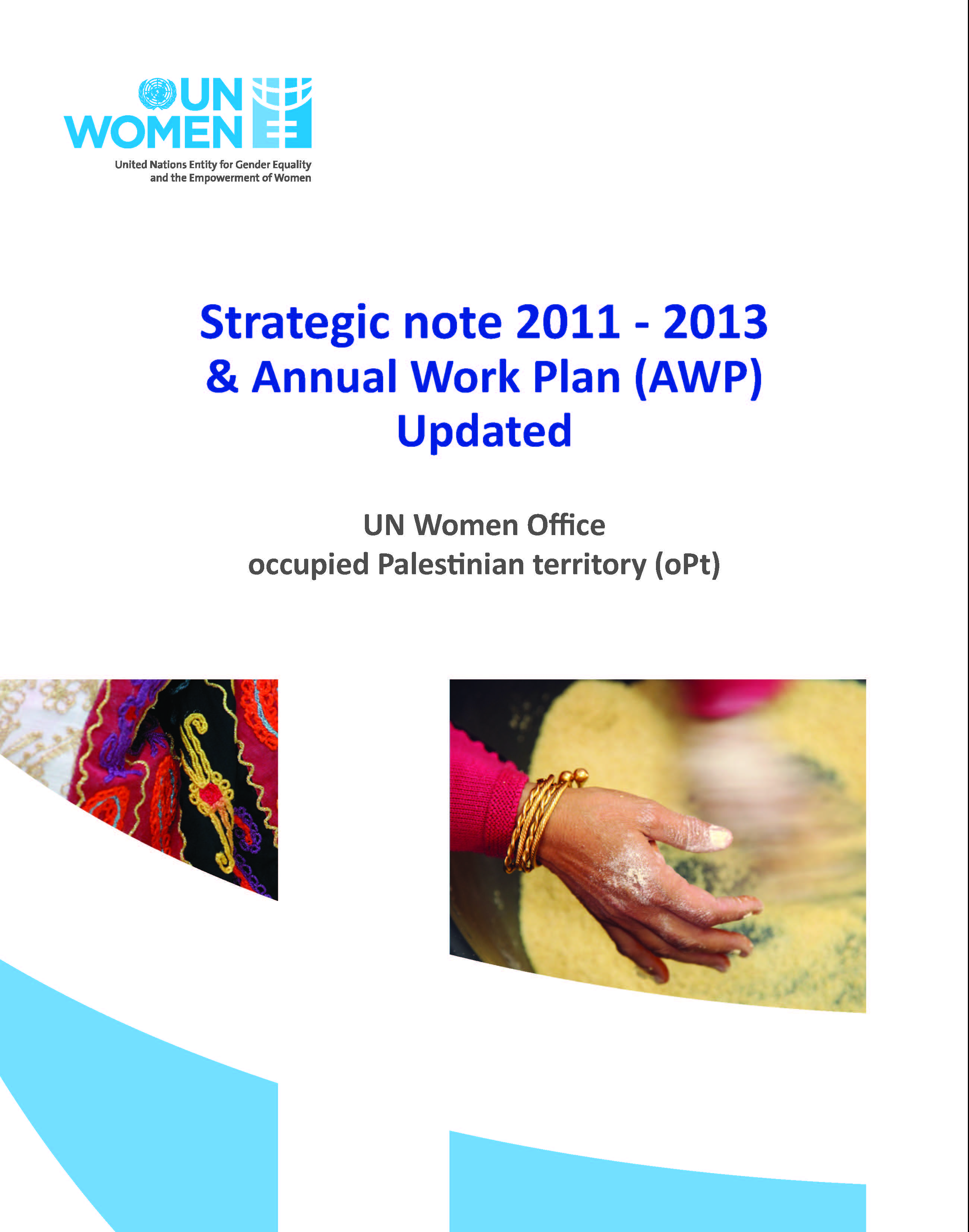 Strategic Note 2012-2013 & Annual Work Plan (updated)