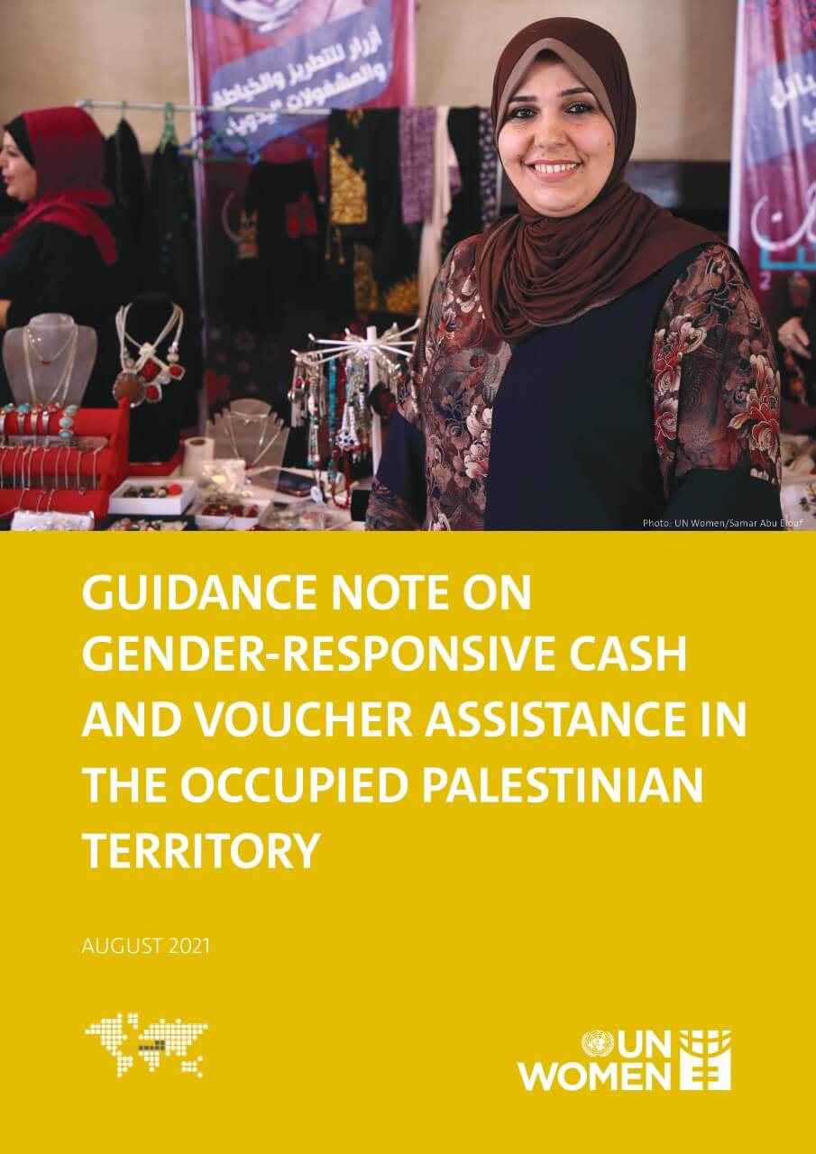 Guidance Note on Gender-Responsive Cash and Voucher Assistance in the Occupied Palestinian Territory