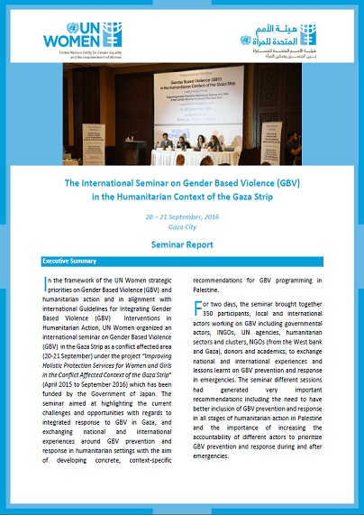 Seminar Report on Gender Based Violence (GBV) in the Humanitarian Context of the Gaza Strip