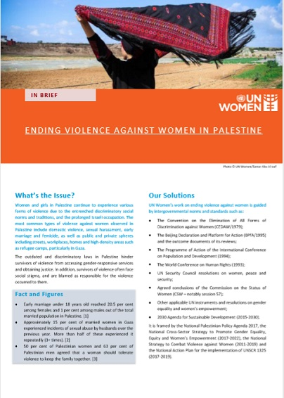 Ending Violence against Women in Palestine
