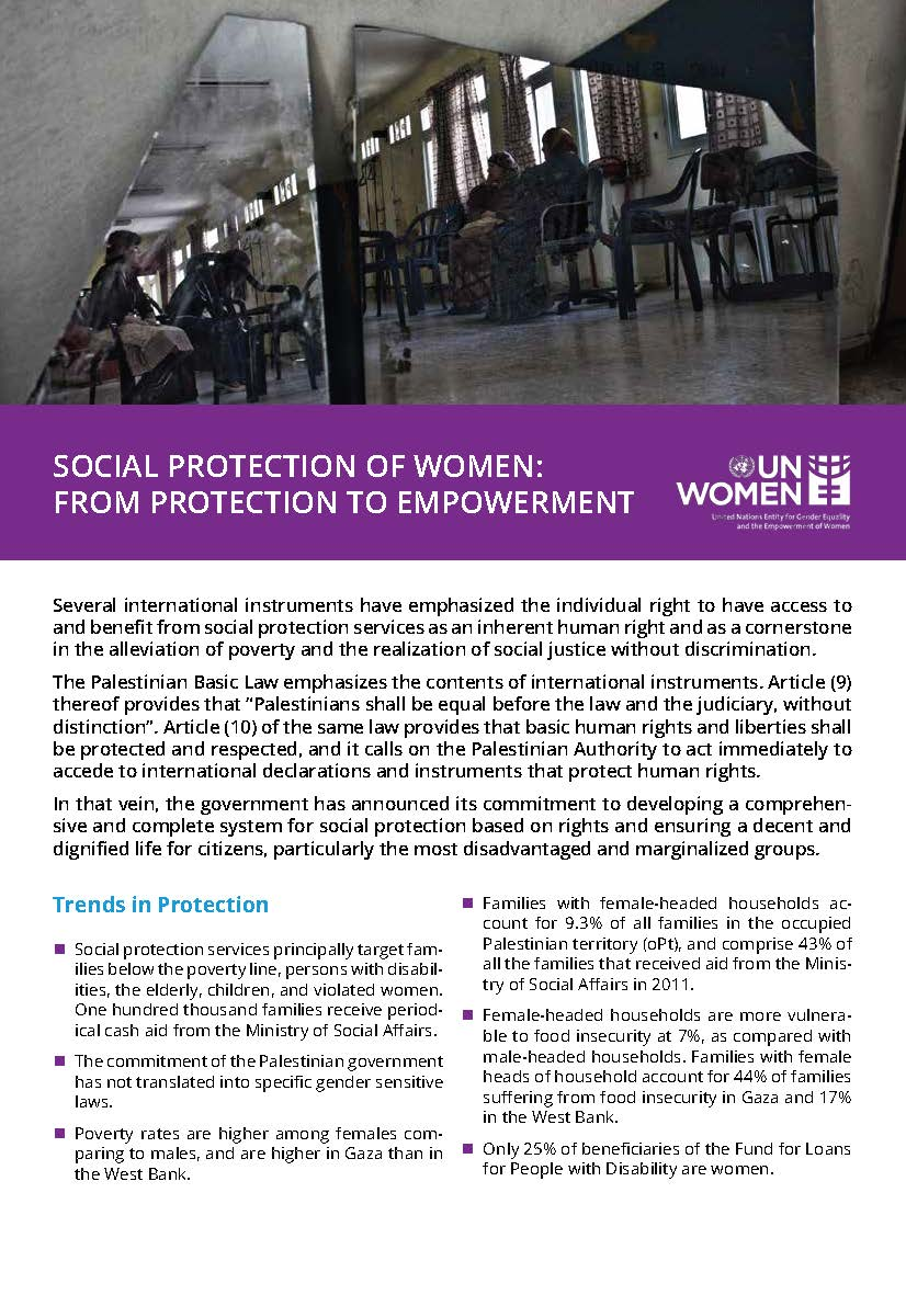 Social Protection of Women: from Protection to Empowerment (Fact Sheet)