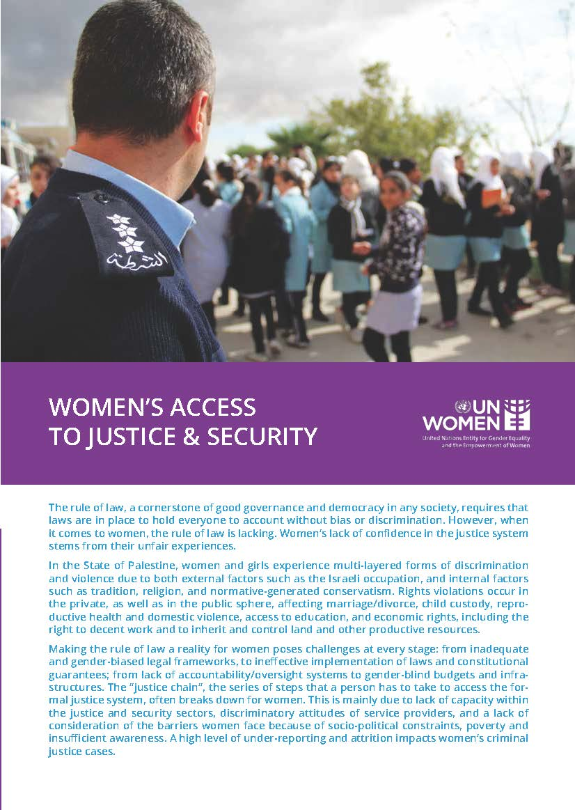 Women's Access to Justice & Security (Fact Sheet)
