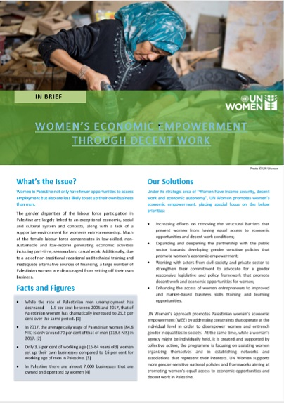 Women's Economic Empowerment through Decent Work