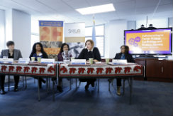 UN Trust Fund and Shiva event collaborating to tackle human trafficking. Photo: UN Women/Ryan Brown