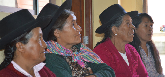 Photo: Mildred Garcia Peru RNPM working to end violence against older women