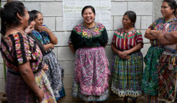 WJI's Women's Rights Education Programme participants from the community of El Llano. Credit: WJI/Olivia Jacquet