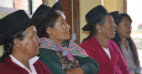 Attendees participate in an elderly association meeting of the Ayacuyo Community. Photo: UN Trust Fund/Mildred Garcia