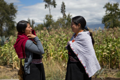 Martha Chango (right) in Tungurahua province where she works as the Municipal Councilor of Pelileo and the Chair of the Gender Commission in Tungurahua province. Photo:Michelle Gachet / UN Women