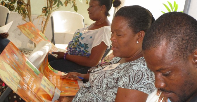 Training for staff on ending violence against women with disabilities. Photo: Beyond Borders.