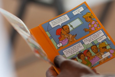 Adapted SASA! training materials for the Haitian context. photo: Beyond Borders