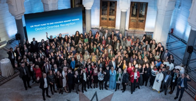 Group picture at city hall. Photo: UN Trust Fund/UN Women/Sulejman Omerbašić