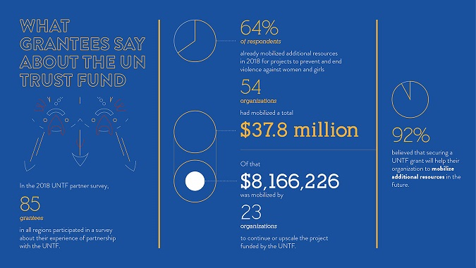 infographic partner survey about what grantees have raised