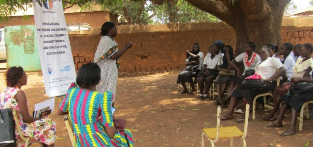 SIHA Project Officer - Christin taking students through the project inception at Wau Complex Secondary School.  Photo: SIHA