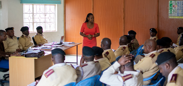 UN Trust Fund grantee CREAW responding to increased violence against women and girls during COVID-19. Photo of a chiefs training in Narok county.