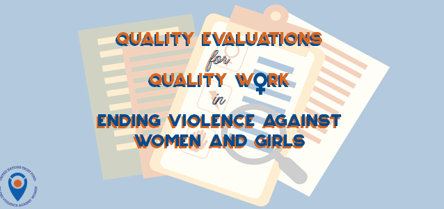 Graphic of Strengthening grantee evaluations to improve work to end violence against women