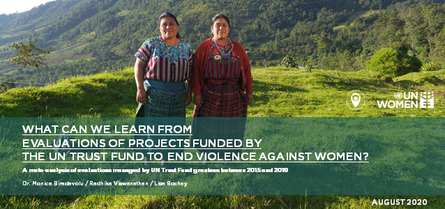 What can we learn from evaluations of projects funded by the UN Trust Fund to End Violence against Women? A meta-analysis of evaluations managed by UN Trust Fund grantees between 2015 and 2019