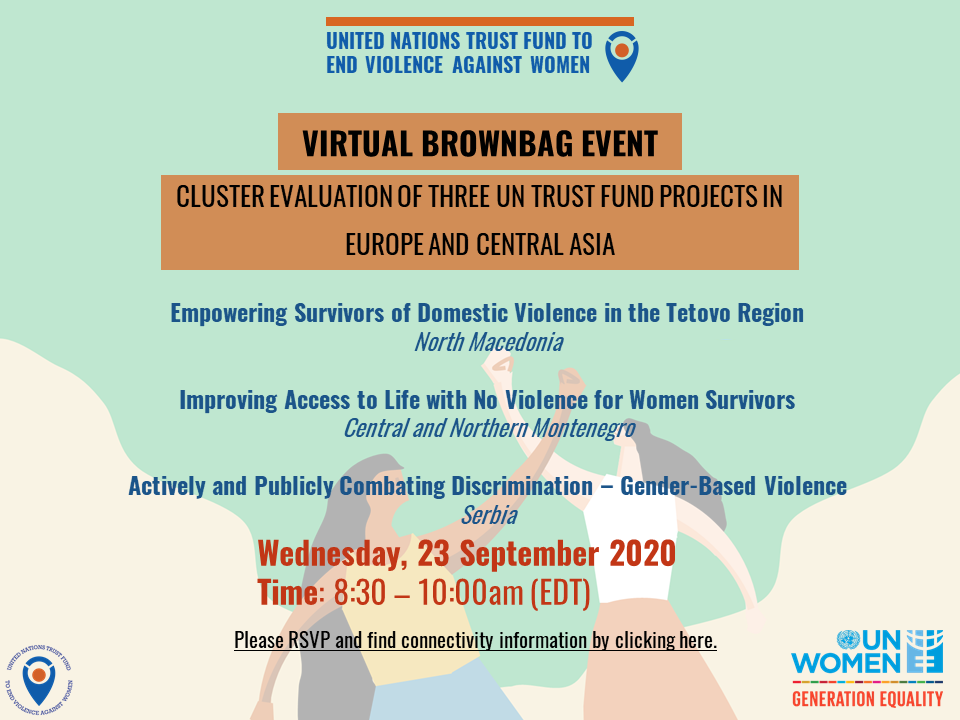 UN Trust Fund's Virtual Brownbag Event on the Cluster Evaluation of three UN Trust Fund projects in Europe and Central Asia