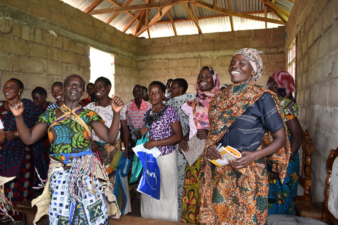 Girls participating in AMREF, a project working to end Female Genital Mutilation, in Tanzania