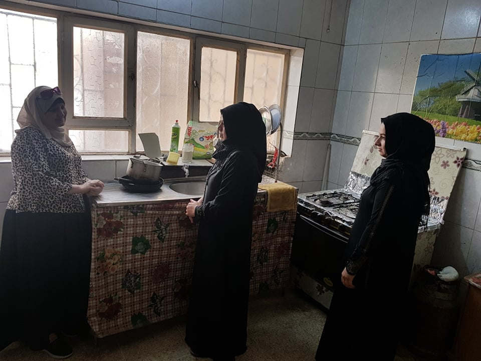 Women being welcomed at an OWFI shelter in Samarra city/Saladin Governorate