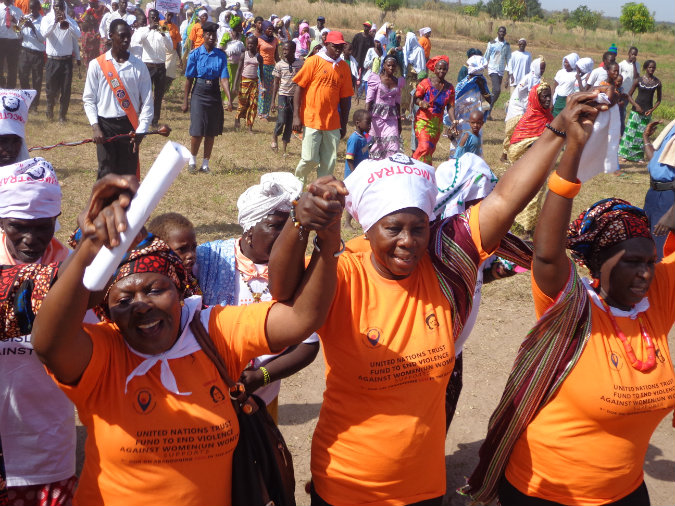 GAMCOTRAP staff participate in an event for the 16 Days of Activism to End Violence against Women. Photo: UN Trust Fund Grantee/GAMCOTRAP, the Gambia