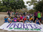 Youth Collective and their project to challenge gender stereotypes and to end violence against women at a march on International Women's Day 2020.