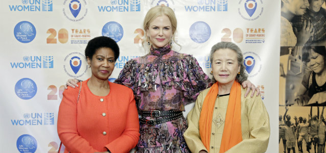 L-R: Phumzile Mlambo-Ngcuka, UN Women Executive Director, Nicole Kidman, UN Women Goodwill Ambassador and Mrs. Ban Soon-taek at UN Trust Fund gala. Photo: UN Women/Ryan Brown - See more at: http://auth-untf.unwomen.org/en/news-and-events/stories/2016/11/press-release-luminaries-activists-and-artistes-spotlight-untf-interventions#sthash.RIkbfon2.dpuf