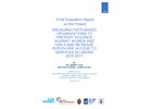 "Final Evaluation: ""Engaging Faith-Based Organizations to Prevent Violence against Women & Girls and Increase Survivors' Access to Services"" (Liberia)"