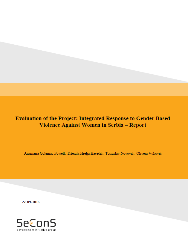 Final Evaluation: Integrated Response to Gender-Based Violence against Women in Serbia