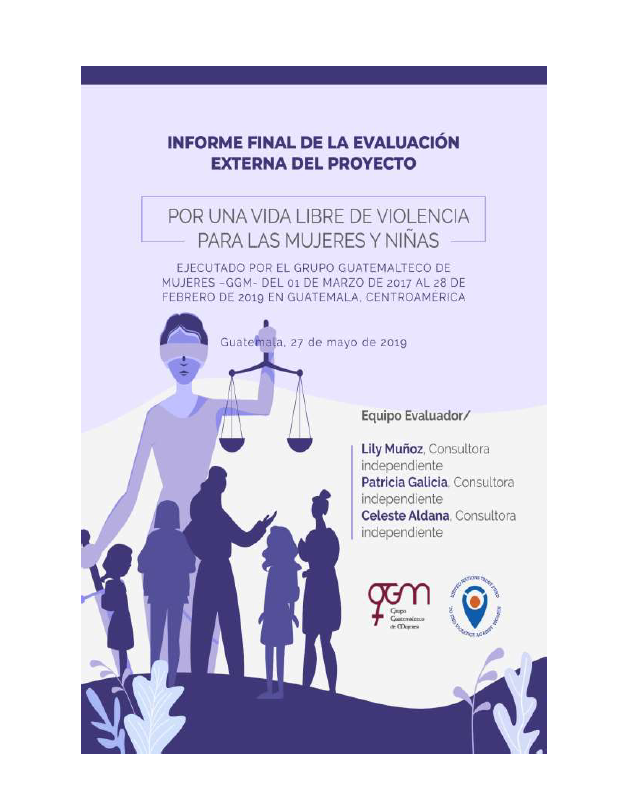 Final Evaluation: For a Life Free of Violence for Women and Girls (Guatemala)